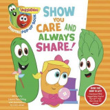 Omslag - VeggieTales: Show You Care and Always Share, a Digital Pop-Up Book (Padded)