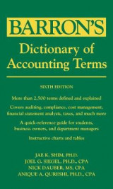 Omslag - Dictionary of Accounting Terms