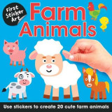 Omslag - First Sticker Art: Farm Animals
