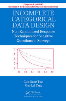 Incomplete Categorical Data Design av Guo-Liang Tian og Man-Lai Tang (Innbundet)