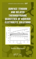Omslag - Surface Tension and Related Thermodynamic Quantities of Aqueous Electrolyte Solutions