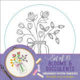 Omslag - Blooms & Succulents Embroidery Pattern Transfers