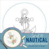 Omslag - Nautical Embroidery Pattern Transfers