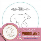 Omslag - Woodland Embroidery Pattern Transfers