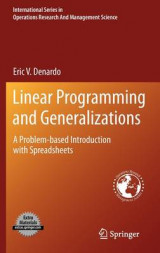 Omslag - Linear Programming and Generalizations