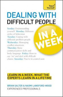 Dealing with Difficult People in a Week av Brian Salter og Naomi Langford-Wood (Heftet)