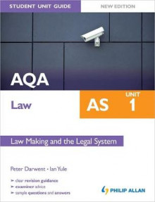 AQA Law AS Student Unit Guide: Unit 1 New Edition Law Making and the Legal System av Ian Yule og Peter Darwent (Heftet)
