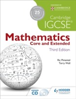 Cambridge IGCSE Mathematics Core and Extended 3ed + CD av Terry Wall og Ric Pimentel (Heftet)