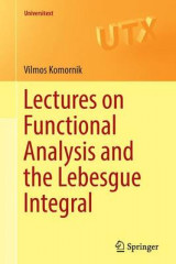 Omslag - Lectures on Functional Analysis and the Lebesgue Integral 2016