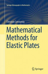 Omslag - Mathematical Methods for Elastic Plates