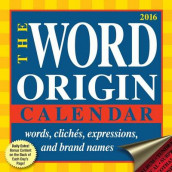 2016 Word Origin DTD av Gregory McNamee (Kalender)