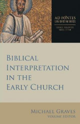 Omslag - Biblical Interpretation in the Early Church