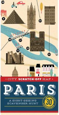 City Scratch-Off Map: Paris av Christina Henry De Tessan (Kart, falset)