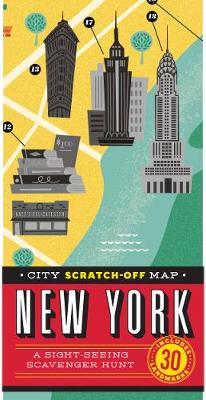 City Scratch-Off Map: New York av Christina Henry De Tessan (Kart, falset)