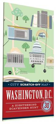 City Scratch-Off Map: Washington, D.C. av Christina Henry De Tessan (Kart, falset)
