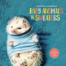 Baby Animals in Sweaters 2018 Wall Calendar av Chronicle Books (Kalender)