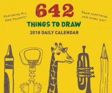 2018 Daily Calendar: 642 Things to Draw av Chronicle Books (Kalender)