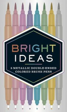 Bright Ideas: 8 Metallic Double-Ended Colored Brush Pens av Chronicle Books (Varer uspesifisert)