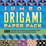 Omslag - Jumbo origami paper pack. 600 pages of origami paper plus basic fold instructions