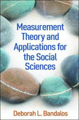 Omslag - Measurement Theory and Applications for the Social Sciences