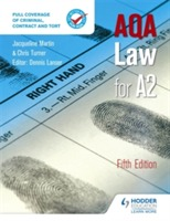 AQA Law for A2 Fifth Edition av Jacqueline Martin og Denis Lancer (Heftet)