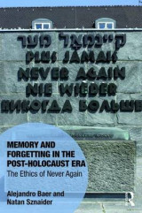 Omslag - The Memory and Forgetting in the Post-Holocaust Era