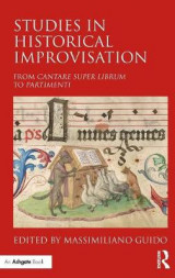 Omslag - Studies in Historical Improvisation