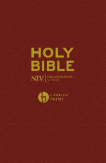 NIV Larger Print Burgundy Hardback Bible av New International Version (Innbundet)