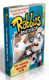 Omslag - The Rabbids Invasion Files: Case File #1 First Contact; Case File #2 NewDevelopments; Case File #3 The Accidental Accomplice; Case File #4 Rabbids Go Viral