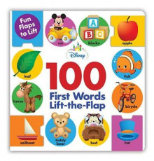 Disney Baby 100 First Words Lift-The-Flap av Disney Book Group (Pappbok)