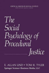 The Social Psychology of Procedural Justice av E.Allan Lind og Tom R. Tyler (Heftet)