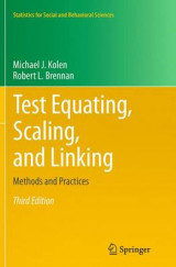 Omslag - Test Equating, Scaling, and Linking 2014