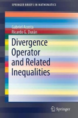 Omslag - Divergence Operator and Related Inequalities 2017