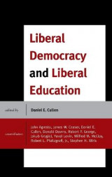 Omslag - Liberal Democracy and Liberal Education