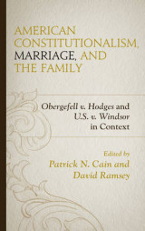 Omslag - American Constitutionalism, Marriage, and the Family