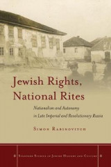 Omslag - Jewish Rights, National Rites