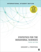 Omslag - Statistics for the Behavioral Sciences