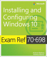 Omslag - Exam Ref 70-698 Installing and Configuring Windows 10