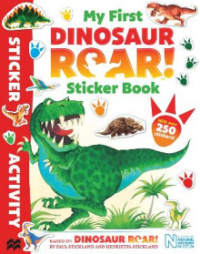 My First Dinosaur Roar! Sticker Book av Macmillan Children's Books og Paul Stickland (Heftet)