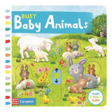 Omslag - Busy Baby Animals