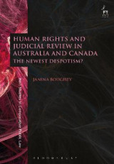 Omslag - Human Rights and Judicial Review in Australia and Canada