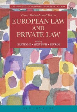 Omslag - Cases, Materials and Text on European Law and Private Law