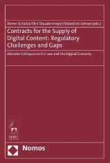 Omslag - Contracts for the Supply of Digital Content: Regulatory Challenges and Gaps