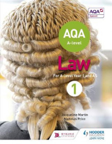 AQA A-level Law for Year 1/AS av Jacqueline Martin og Nicholas Price (Heftet)