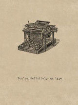 Omslag - Antique Typewriter. 6 Cards, Individually Bagged with Envelopes
