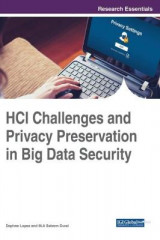 Omslag - HCI Challenges and Privacy Preservation in Big Data Security