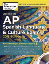 Omslag - Cracking the AP Spanish Language and Culture Exam with Audio CD, 2018 Edition