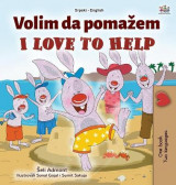 Omslag - I Love to Help (Serbian English Bilingual Children's Book - Latin Alphabet)
