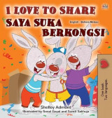 Omslag - I Love to Share (English Malay Bilingual Book for Kids)