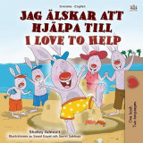 Omslag - I Love to Help (Swedish English Bilingual Children's Book)